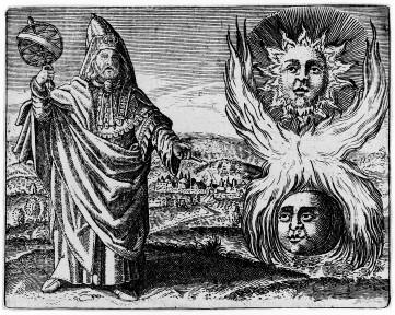 M0011829 Hermes Trismegistos, from Stolcius, Viridarium Chymicun, 1624